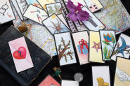 Support tarot de Marseille, oracles et pendule